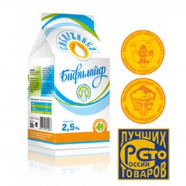 Бифилайф, кисломолочный биопродукт 2,5% т/п «Сибиржинка» 0,5 л