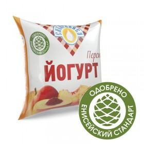 Йогурт фруктовый Персик мдж 2,5% п/п «Сибиржинка» 500 г