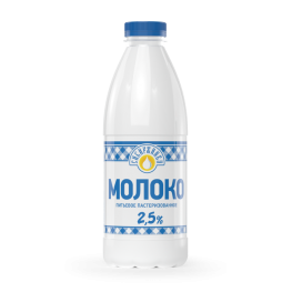 Молоко питьевое пастериз. «Российское» 2,5% бутылка «Сибиржинка» 930 мл