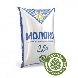 Молоко пастеризованное «Российское» 2,5%  «Сибиржинка» п/п  900 мл