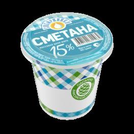 Сметана 15%  «Сибиржинка» стак. 305 г