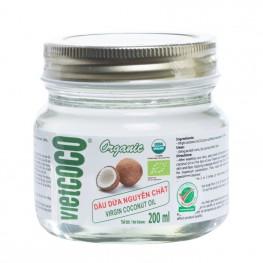 Масло кокосовое  Organic Virgin VietCOCO стекло 200 мл